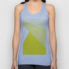 Simple Geometric Triangle Pattern - White on Yellow - Mix & Match with Simplicity of life Unisex Tank Top