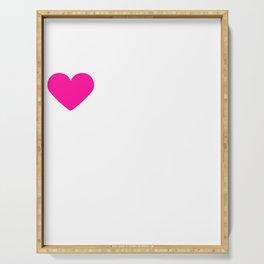 I Heart Doberman Pinschers | Love Doberman Pinschers Serving Tray