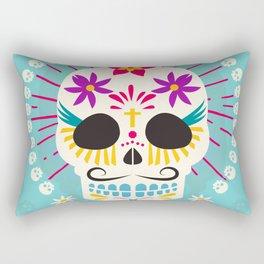 Dios De Los Muertos Day of the Dead Sugar Skull Fiesta Rectangular Pillow