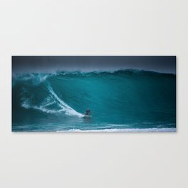 Kelly Slater riding Pipeline Canvas Print