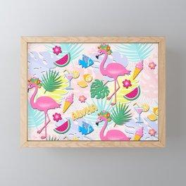 Aloha Pink Flamingo Art Framed Mini Art Print
