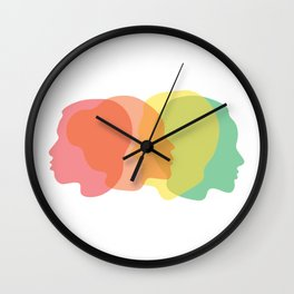 #SameDifference Heads Wall Clock