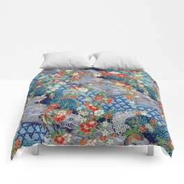 Japanese River Pattern. Comforters