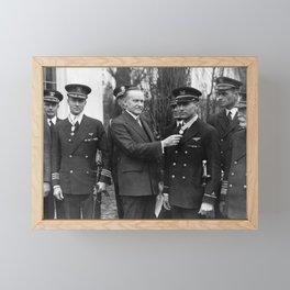Richard Byrd and Floyd Bennett - Medal Of Honor Presentation - 1927 Framed Mini Art Print