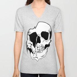 draining skull Unisex V-Neck
