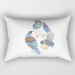 thee birds in a tree Rectangular Pillow
