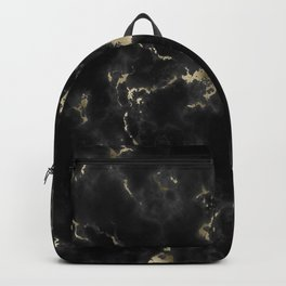Black and Gold Marble Backpack