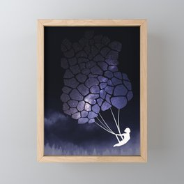 aerial balloon dreams Framed Mini Art Print