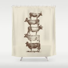 Cow Cow Nuts Shower Curtain