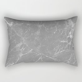 Grey Marble Rectangular Pillow