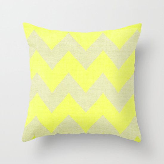 Jonquils & Daffodils - Yellow Chevron Throw Pillow