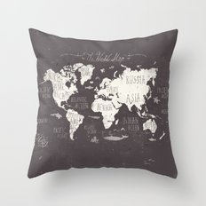 The World Map Throw Pillow
