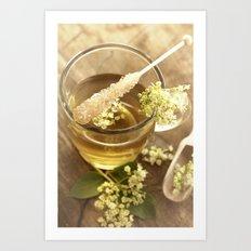 Elder Tea Still life for kitchen Art Print