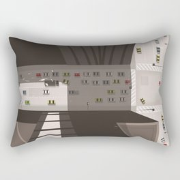 Chicago City travel poster Rectangular Pillow