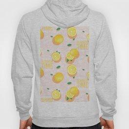 Watercolor Lemon Pattern Hoody