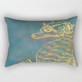Deep Sea Life Seahorse Rectangular Pillow