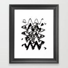 Abstraction in black and white CB Framed Art Print