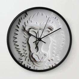 """Mandrill King"" Wall Clock"