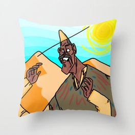 poncho man Throw Pillow