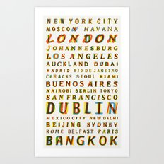 Travel World Cities Art Print