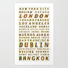 Travel World Cities Art Print