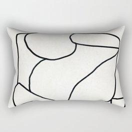 Abstract line art 2 Rectangular Pillow