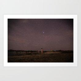 Stargazing on Cape Cod Art Print