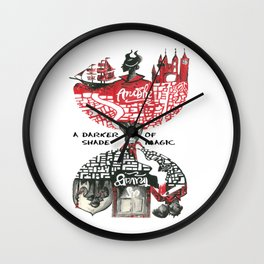 Red & Black London from A Darker Shade Of Magic Wall Clock
