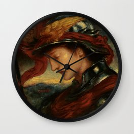 "Simeon Solomon ""The Knight of the Lord's Passion"" Wall Clock"