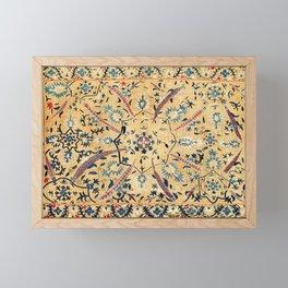 Kermina  Suzani  Antique Uzbekistan Embroidery Print Framed Mini Art Print