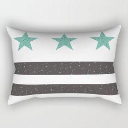 Teal & Grey Washington, DC Flag Rectangular Pillow