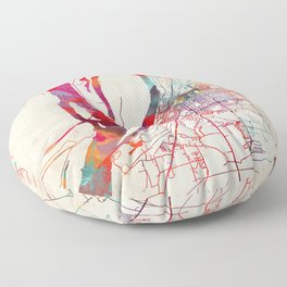 Greenville map Mississippi MS Floor Pillow