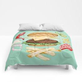 Burger Mandala Comforters