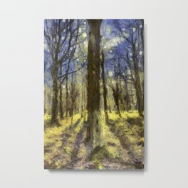 Peaceful Forest Van Gogh Metal Print
