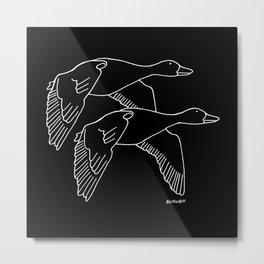 Geese in Flight #2 Metal Print
