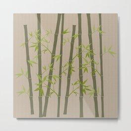 Natural Organic Bamboo Plant Metal Print