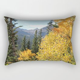 Autumn in the Rocky Mountains at Diamond Lake Trail, Eldora Colorado Rectangular Pillow