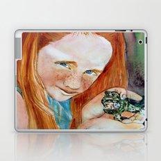 Redhead Green Frog Laptop & iPad Skin