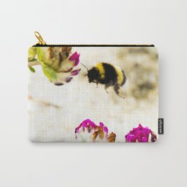 the flight of bumble bee on the dunes I Carry-All Pouch