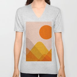 Abstraction_Mountains_02 Unisex V-Neck