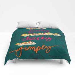 Live Fully, Breathe Deeply, Eat Simply Quote Comforters