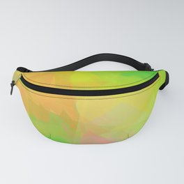 Triangle Pattern Tropical Colors, Green Yellow Design Fanny Pack