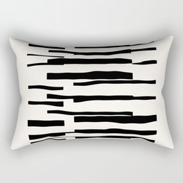 Organic No. 13 Black & Off-White #minimalism #decor #society6 Rectangular Pillow