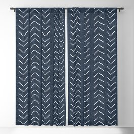 Mud Cloth Big Arrows in Navy Blackout Curtain