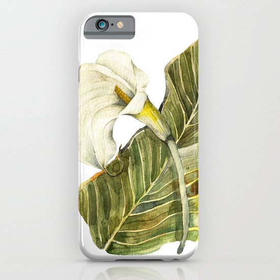 White Calla Lily iPhone & iPod Case