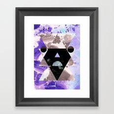 Faces of the universe Framed Art Print