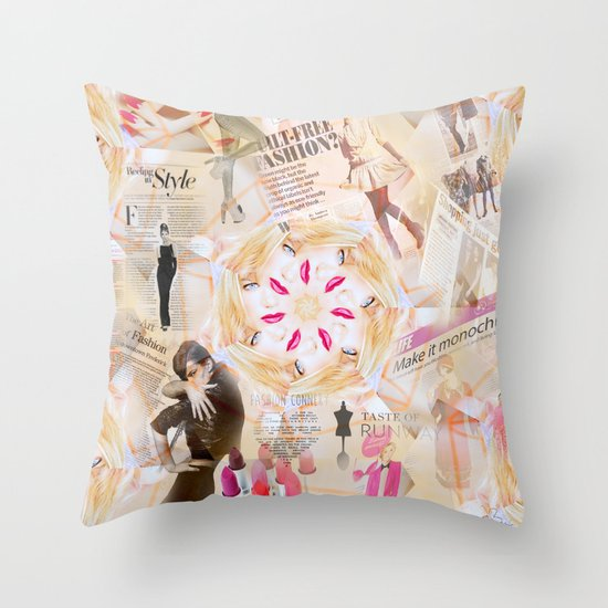 Fashion Addiction Throw Pillow