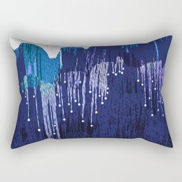 Blue mountains in winter time Rectangular Pillow