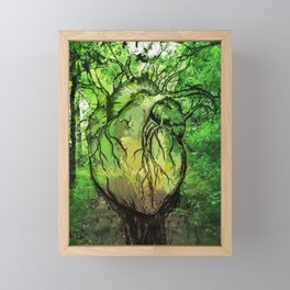 Green Heart of Nature Framed Mini Art Print