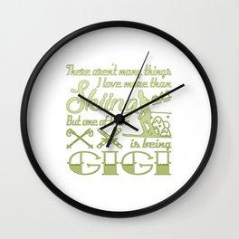 Skiing Gigi Wall Clock